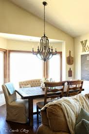 Pottery Barn Celeste Chandelier The Concrete Cottage Dining Room Restyle