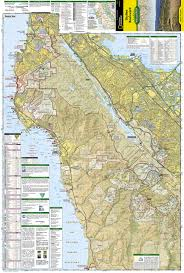 Hillsborough County Zip Code Map by Skyline Boulevard National Geographic Trails Illustrated Map