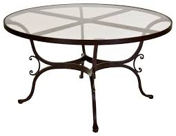round glass outdoor table nice glass patio table furniture with top throughout dining decor 4