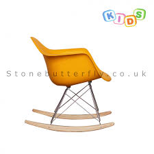 Child Rocking Chair Charles Ray Eames Style Rar Rocking Chair Yellow