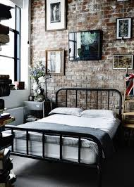 Exposed Brick Apartments Photo This Ivy House Industrial Bed Industrial And Bedrooms