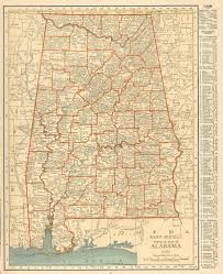 Map Of Al Antique Maps Of Alabama