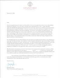 3 answers what does a stanford letter of acceptance to