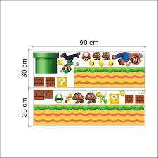 aliexpress com buy super mario wall stickers for kids room home