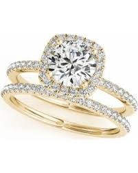 gold halo engagement rings bargains on 14k yellow gold 1 2 carat cut halo engagement