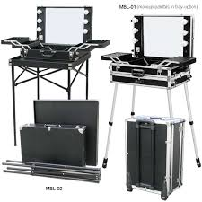 makeup artist box lighted makeup box and chair for makeup artist and visagiste