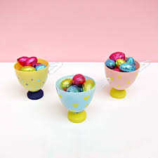 Plastic Easter Egg Decorating In Trees by Tea Cup Favors Or Decor From Plastic Easter Eggs Hometalk