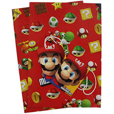 mario wrapping paper mario bros gift wrap wrapping paper at the works