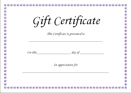 sample gift certificate elegant gold foil sample gift