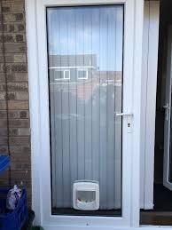 Patio Door Cat Flap Glazed Glass Unit For Patio Door With Cat Flap In