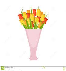 tulips flower bouquet in tall flower vase flower shop decorative