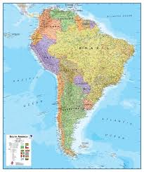 south america map atlas south america political wall map continent wall maps posters