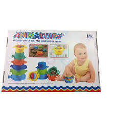 babys birthday 6 pcs kid toys environmental plastic animal cups baby toys wisdom