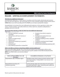 accomplishment for resume accomplishments examples for resume free resume example and