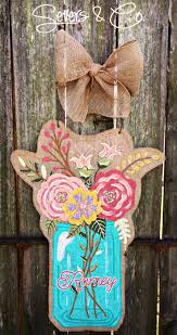 1129 best burlap decor door hangers images on pinterest