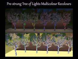 sims 3 holiday lights mod the sims pre strung tree of lights multicolour recolours