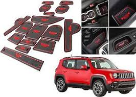 jeep red 2017 16 piece red interior mat set for 2015 2017 jeep renegade new free
