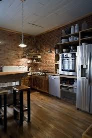 cuisine en brique brico sol plafond bois murs brique cuisine simple cuisine en