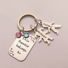 personalized keychain gifts personalised auntie present personalized auntie keychain gift