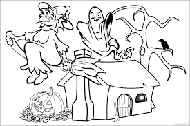 free halloween pictures to color coloring pages for kids