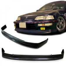 honda civic 91 hatchback parts 88 91 civic ef charge speed front lip