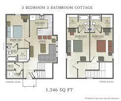Cabin Floorplan Free Floor Plans For Cottages Cabin Plan Bedroom Cottage Log 3