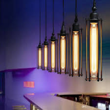 edison vintage flute pendant lamp loft wrought iron chandeliers