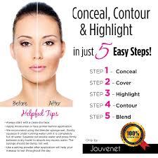 How To Shape Eyebrows With Concealer Amazon Com Contour 15 Color Cream Concealer Makeup Palette