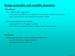 design principles and usability heuristics ppt download