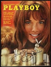 barbi benton and hugh hefner lot detail 1972 barbi benton signed playboy magazine jsa