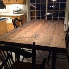 table cuisine en bois table cuisine bois brut 5 taupe en ce qui concerne lzzy co