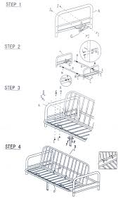 Metal Futon Assembly Instructions How To Assemble How To Assemble - Futon bunk bed instructions