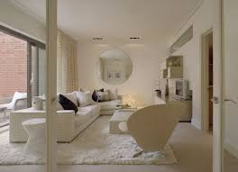 Large Living Room Chair by Contemporary Living Room With Large Round Wall Mirror Furniture