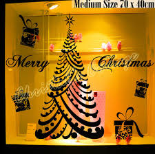large luxury merry christmas tree gift box present shop window
