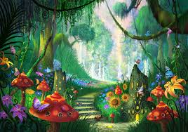 image result for enchanted forest garden wall murals ideas for