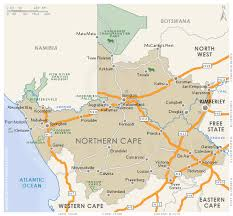 northern map northern cape regional map