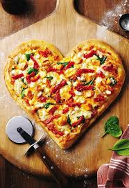 cuisine valentin shaped pizza for valentinesday v day