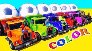 learn colors trucks superheroes jump color truck