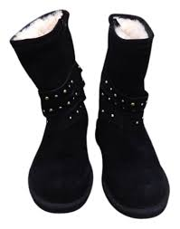australian ugg sale ugg australia ugg clovis shearling with studded wraps black boots
