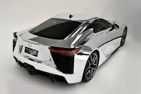 lexus lfa custom lexus lfa supercar covered in chrome autotribute