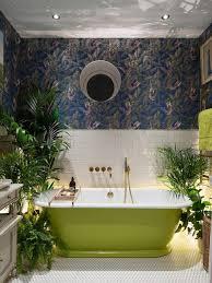 wallpaper bathroom designs wallpaper in bathroom houzz