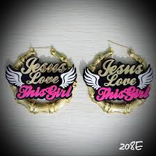 customized earrings 208e poliz girl jesus this girl acrylic name customized