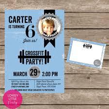 diy crossfit party invitation kit invite and by lovelylittleparty