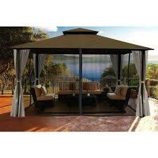 home design products anderson 10 12 gazebo privacy curtain privacy curtain home design products