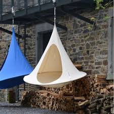 cacoon double hanging tent chair internet gardener
