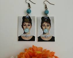 paper ear rings paper earrings etsy