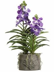 vanda orchid 35 artificial vanda orchid plant in decorative cement pot silk