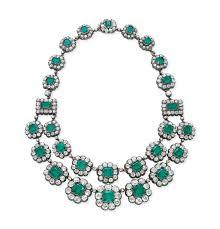 antique emerald necklace images An antique emerald and diamond necklace jewelry necklace jpg