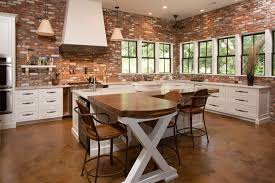 Brick Kitchen Backsplash by 9 Classy Interiors With Exposed Brick Porch Advice