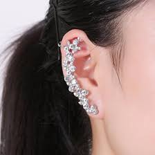 earring top of ear boderier ear cuffs flower earrings cluster top ear